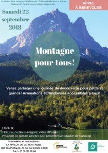 Journée MONTAGNE POUR TOUS @ Lac de Bious-Artigues